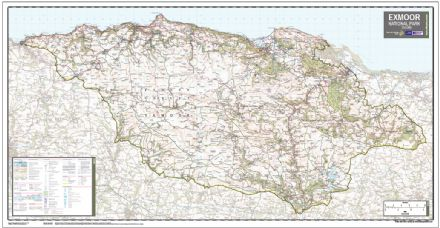 Exmoor National Park - Wall Map